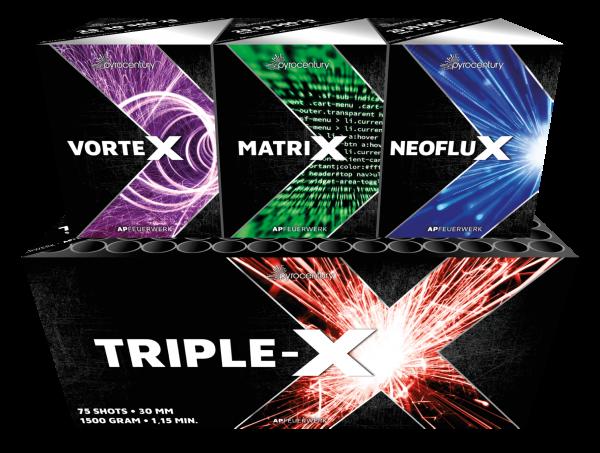 Pyrocentury Triple X – 25 Schots Assortiment