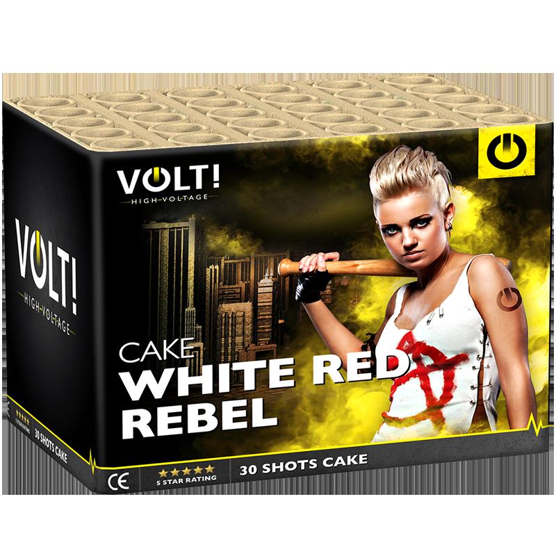 VOLT! White Red Rebel 30 Schots