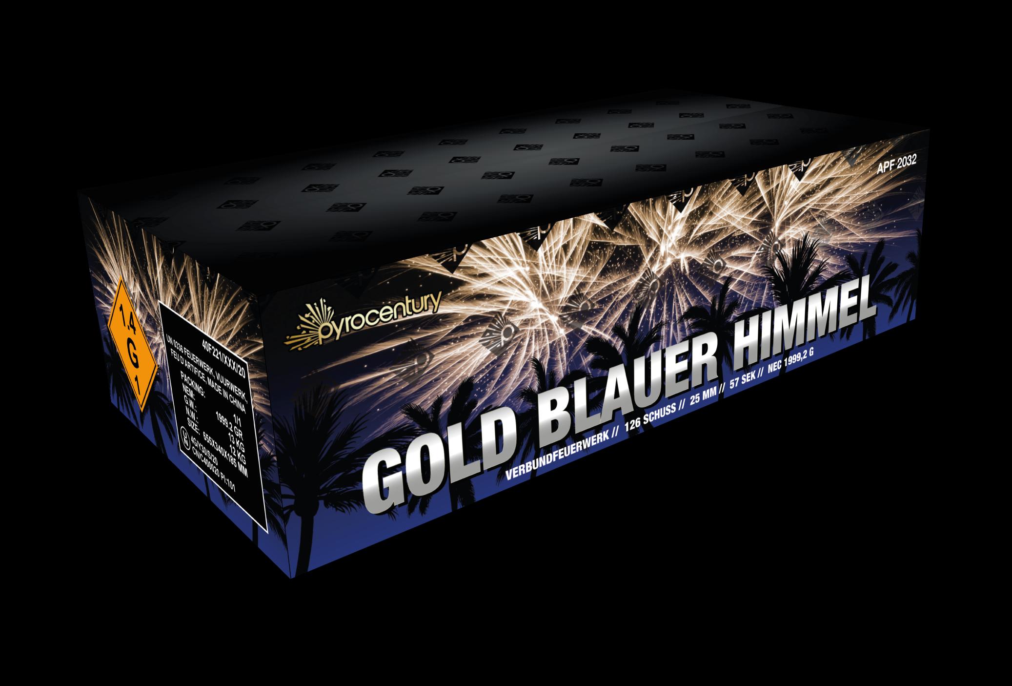 Pyrocentury Gold Blauer Himmel 126 Schots Compound