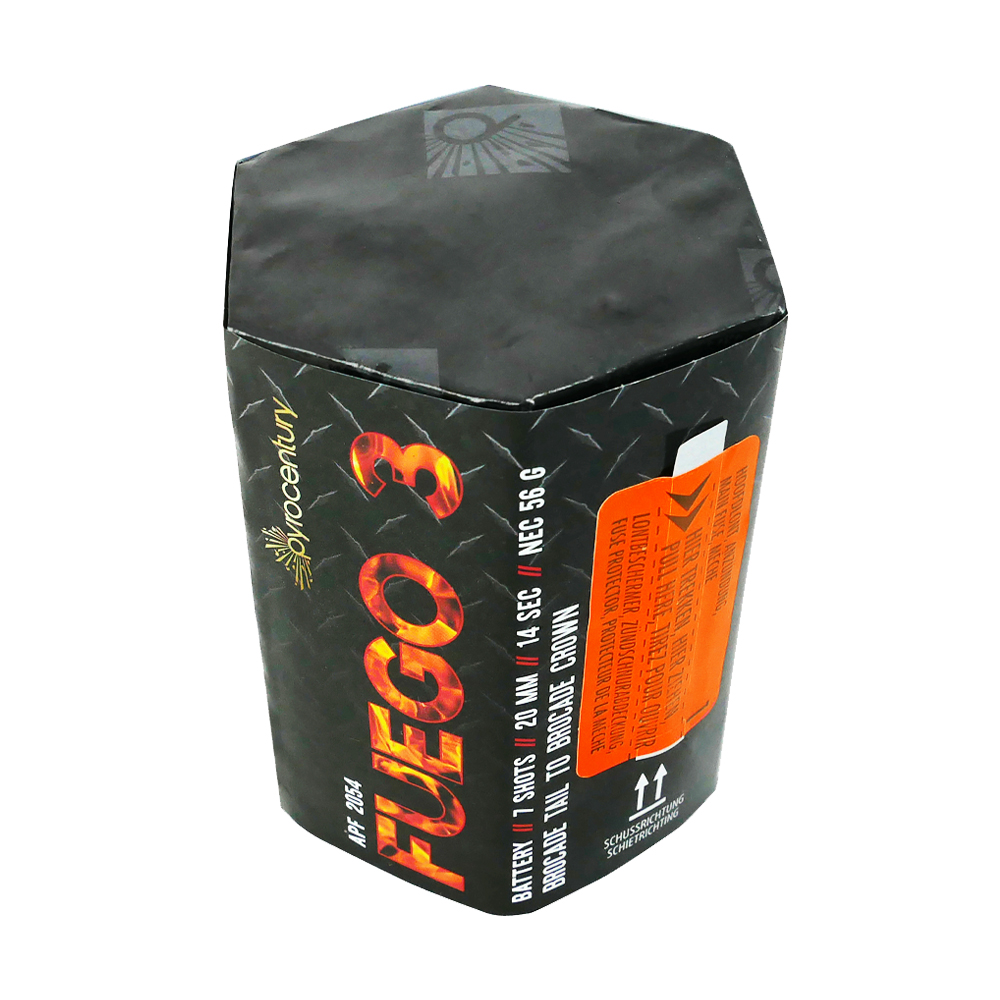 Pyrocentury Fuego Batterijen 7 Schots Assortiment